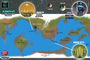 Mapa CYBORG WAR / Trebi Mann