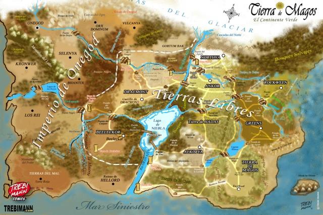 Mapa TIERRA DE MAGOS / Trebi Mann